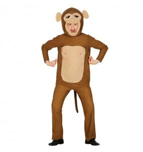 Disfraz de Mono Chimpancé Cabezudo Adulto