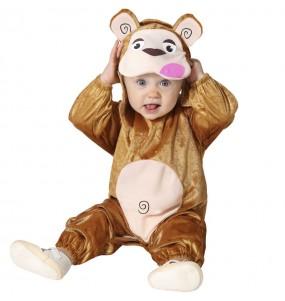 Disfraz de Mono marrón para bebé