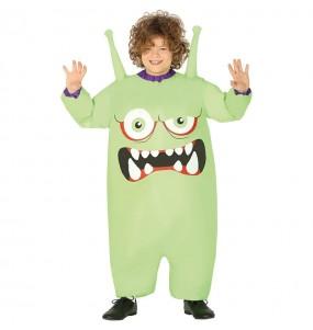 Disfraz de Monstruo Verde hinchable para niño