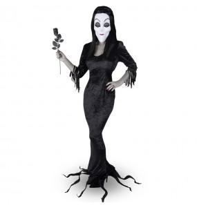 Disfraz de Morticia Familia Addams para mujer