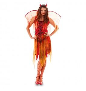 Disfraz de Mujer Demonio con alas