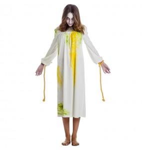 Disfraz de Niña del Exorcista poseída para mujer
