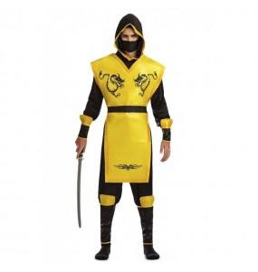 Disfraz de Ninja Amarillo para hombre