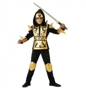 Disfraz de Ninja Dragón Dorado para niño