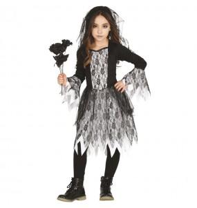Disfraz de Novia cadáver gótica para niña
