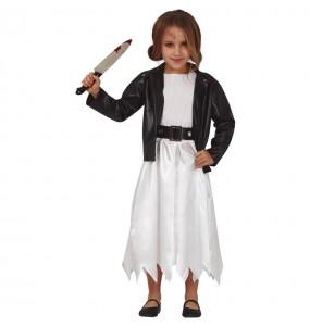 Disfraz de Novia Chucky para niña