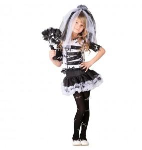 Disfraz de Novia de Frankenstein para niña