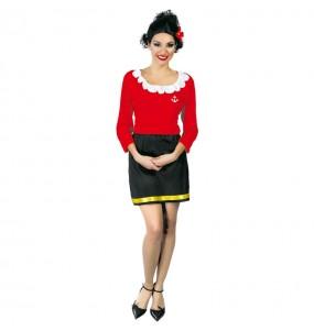 Disfraz de Olivia mujer de Popeye