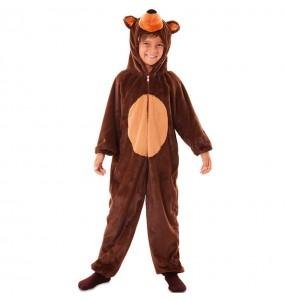 Disfraz de Oso Marron Peluche para niños