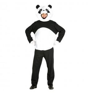Disfraz de Oso Panda Cabezudo Adulto