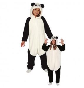 Disfraz de Oso Panda Kigurumi para niños