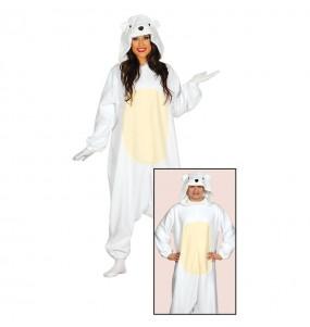 Disfraz de Oso Polar Kigurumi Adulto