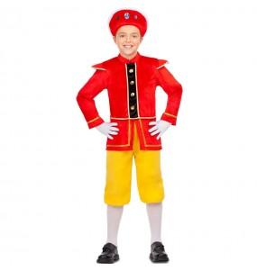 Disfraz de Paje Rey Mago amarillo para niño