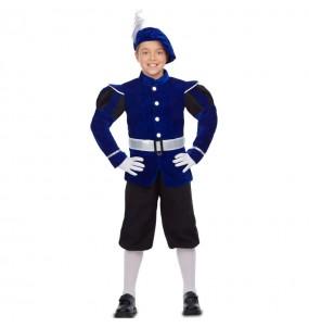 Disfraz de Paje Rey Mago azul para niño