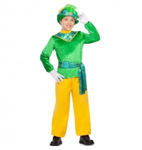 Disfraz de Paje Rey Mago verde para niño