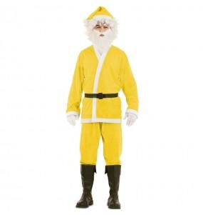 Disfraz de Papá Noel Amarillo para adulto
