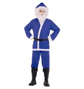 Disfraz de Papá Noel Azul para adulto