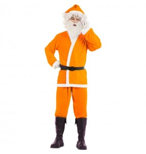 Disfraz de Papá Noel Naranja para adulto