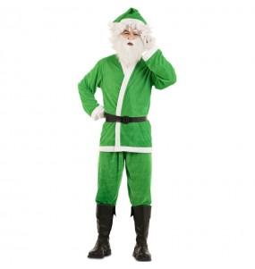 Disfraz de Papá Noel Verde para adulto