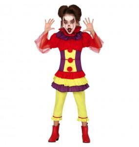 Disfraz de Payasa Asesina Pennywise para niña