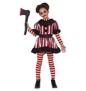 Disfraz de Payasa Horror para niña