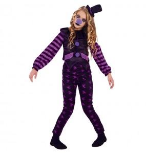 Disfraz de Payasa malvada para niña