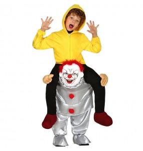 Disfraz de Payaso Asesino It a hombros para niños