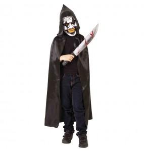 Disfraz de Payaso maniaco encapuchado para niño