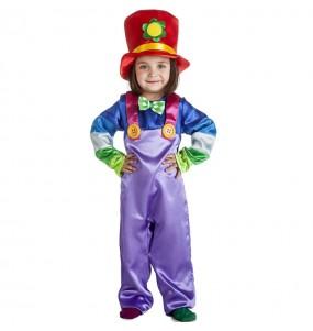 Disfraz de Payaso morado para niño