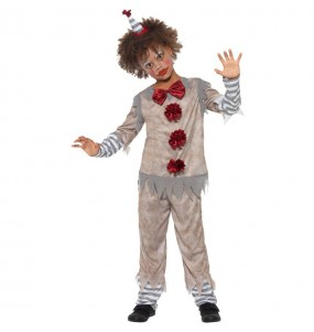 Disfraz de Payaso Pennywise gris para niño