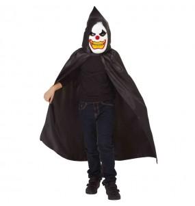 Disfraz de Payaso perturbado encapuchado para niño