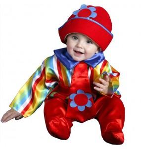 Disfraz de Payaso Rayas bebé