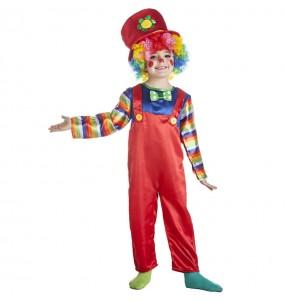 Disfraz de Payaso rojo para niño