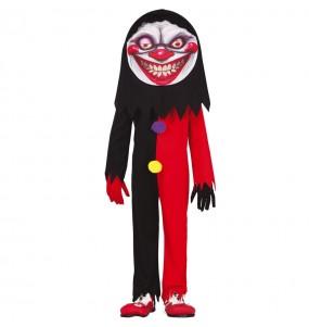 Disfraz de Payaso sonrisa diabólica para niño