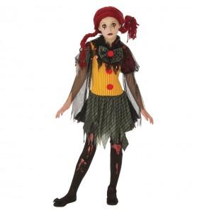 Disfraz de Payasa Zombie para niña