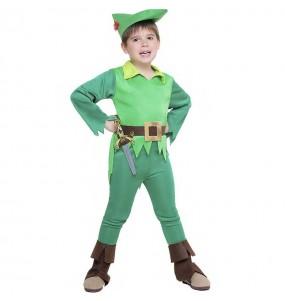 Disfraz de Peter Pan El País de Nunca Jamás para niño