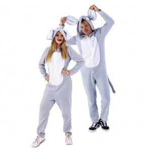 Disfraz de Pijama Elefante para adulto