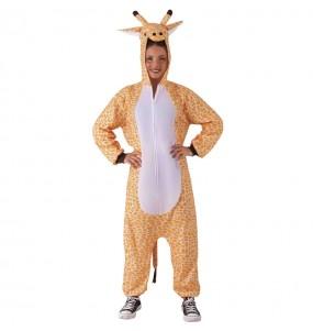Disfraz de Pijama Jirafa para adulto