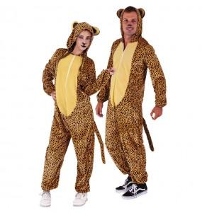 Disfraz de Pijama Leopardo para adulto