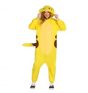 Disfraz de Pikachu Kigurumi Adulto