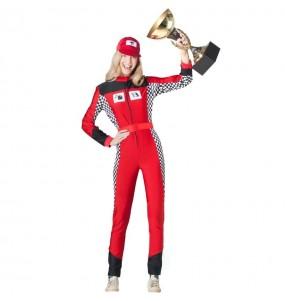 Disfraz de Pilota Carreras para mujer
