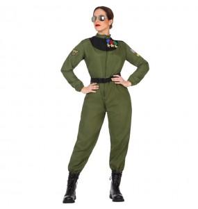 Disfraz de Piloto Caza para mujer