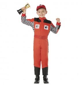 Disfraz de Piloto de coches para niño