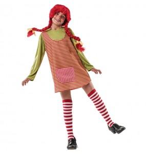 Disfraz de Pipi Calzaslargas para niña