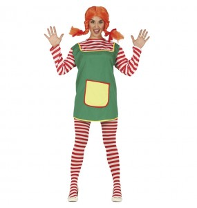 Disfraz de Pipi Calzaslargas para mujer