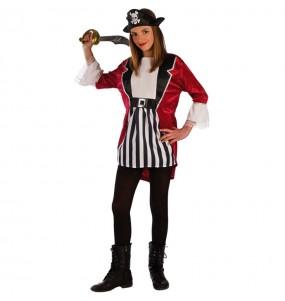 Disfraz de Pirata Barba Negra para niña