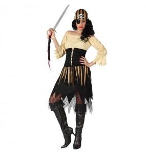 Disfraz de Pirata Beige para mujer