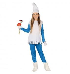 Disfraz de Enanito azul para niña