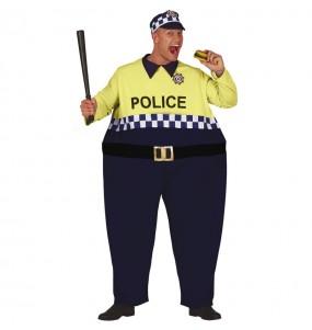 Disfraz de Policía Gordinflón para adulto