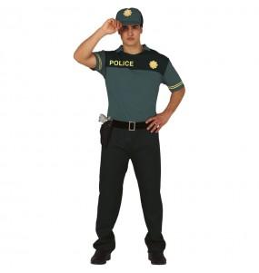 Disfraz de Policía Verde para hombre